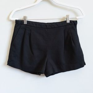 J CREW Pleated Black Shorts w/ Pockets | 6